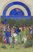 Monat Mai  mit Sternzeichen aus dem Stundenbuch des Herzogs von Berry