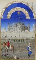 Monat Oktober  mit Sternzeichen aus dem Stundenbuch des Herzogs von Berry