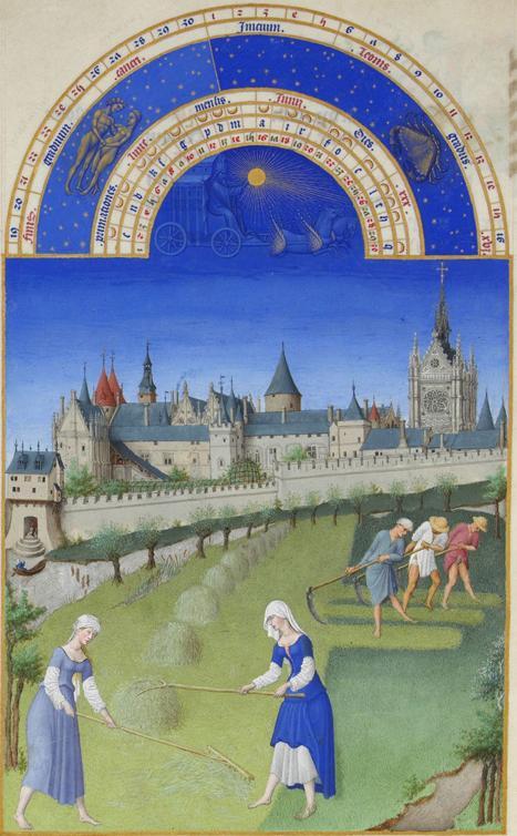 Monat Juni  mit Sternzeichen aus dem Stundenbuch des Herzogs von Berry